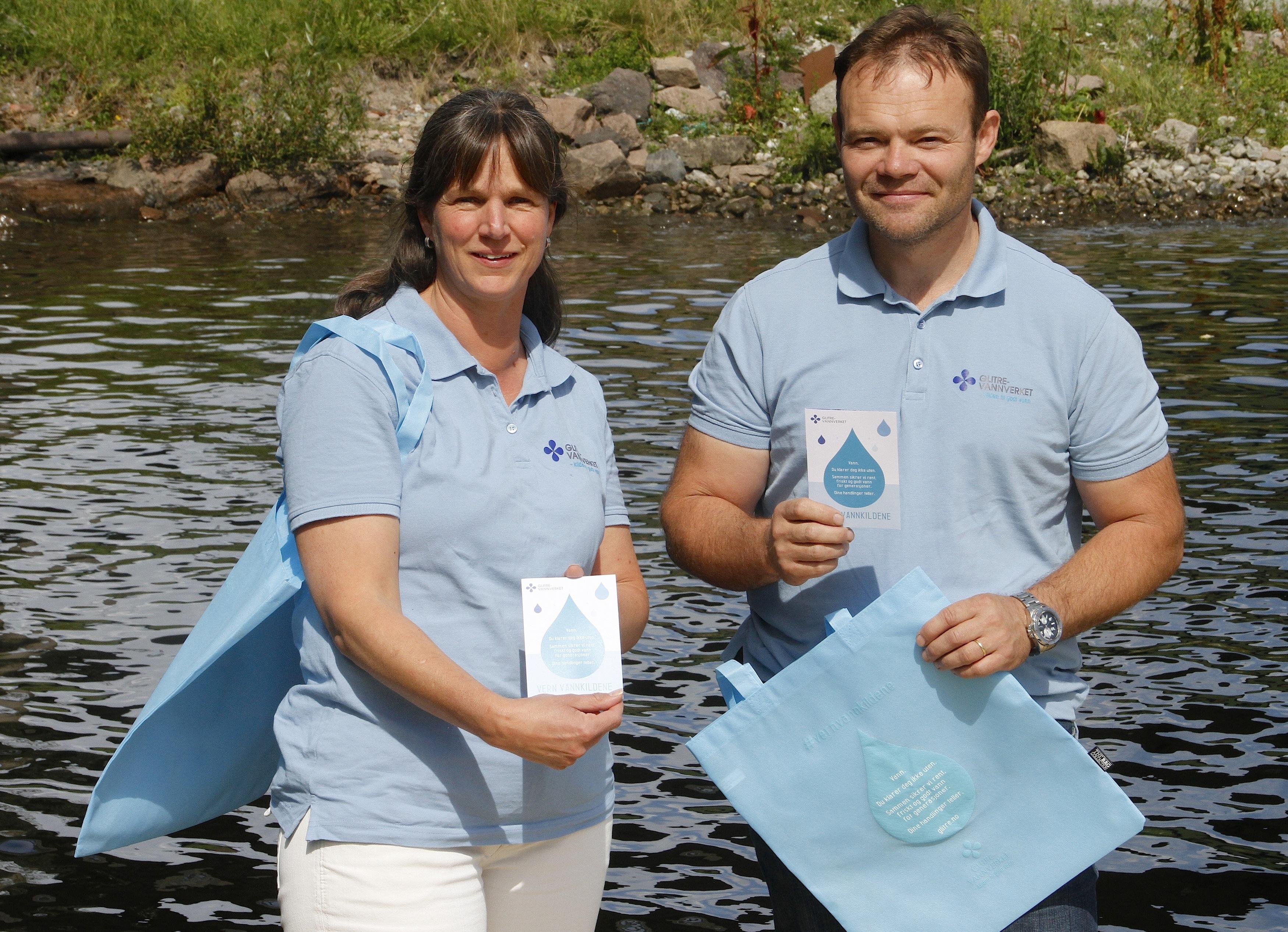 Sommernett og folder #vernvannkilden. Foto Per-Jan Brekke