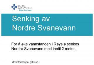 Senking av Nordre Svanevann
