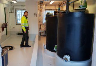 Nye klortanker på Røysjø vannbehandlingsanlegg