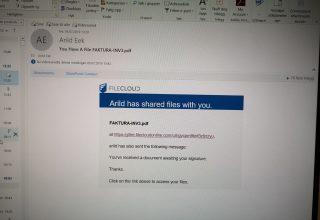 Mailkontoen til Arild Eek har virus
