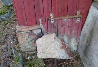 Opprydding i hytteavløp ved Glitre